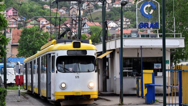 Štrajk upozorenja radnika gradskog prevoza u Sarajevu