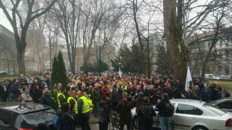 Štrajk zdravstvenih radnika u Sarajevu