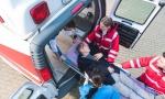 Stravičan udes u Nišu: Čovek kolima udario u objekat, nije davao znake života, hitno prevezen na reanimaciju (FOTO)