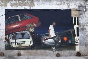 Street art zvezda Sebastian Vesaco oslikava mural u Beogradu
