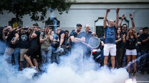 Sukob policije i katalonskih separatista u Barseloni