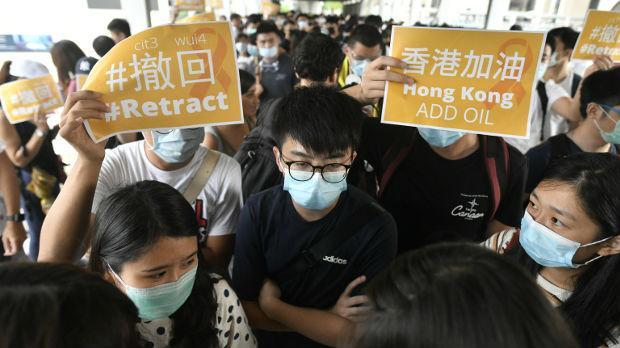 Sukobi između demonstranata i policije u Hongkongu