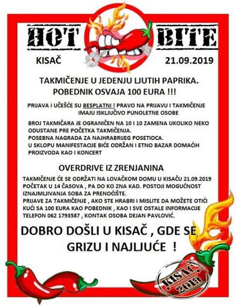 Sutra takmičenje u jedenju ljutih paprika u Kisaču