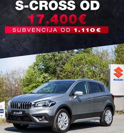 Suzuki subvencija od 1.100 evra za sve pakete opreme S-CROSS-a