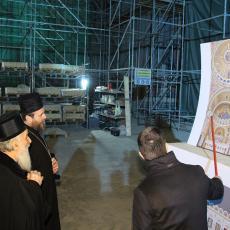 Sve po planu: Napreduju radovi na unutrašnjem ukrašavanju spomen-hrama Svetog Save na Vračaru