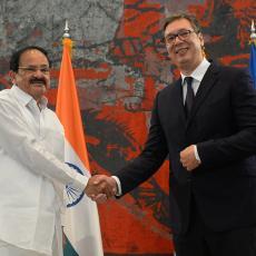 Svečani doček pred Palatom Srbije: Potpredsednik Indije se sastao sa Vučićem, jedna tema POSEBNO BITNA (FOTO)