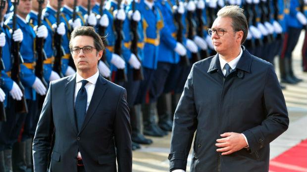 Svečani doček za Pendarovskog ispred Palate Srbija