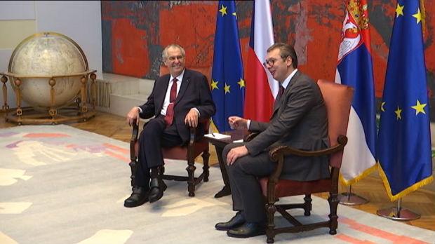 Svečani doček za Zemana, pa sastanak sa Vučićem u Palati Srbija