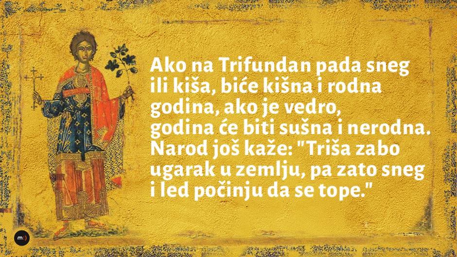 Sveti Trifun Zarizoj - gledajte u nebo i naručite vino
