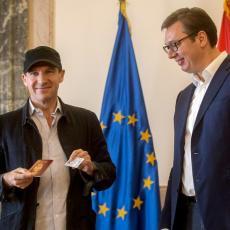 Svetski priznati reditelj i glumac Rejf Fajns izrazio veliku zahvalnost predsedniku Vučiću