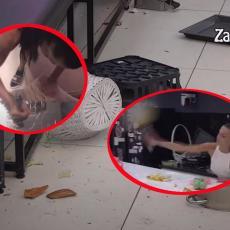 TARA SIMOV RUŠI BELU KUĆU! Lomi kamere, čupa kablove, razbija ogledala! Odlučila da UGASI Zadrugu! (VIDEO)