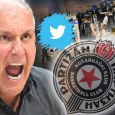 TEŠKA POBEDA NA VATRENOM KRŠTENJU: Tviter gori posle Partizanovog trijumfa! Grobare oduševio samo ON