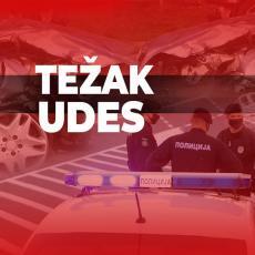 TEŠKA SAOBRAĆAJKA KOD VLADIČINOG HANA: Prevrnuo se kamion, vozač teško povređen