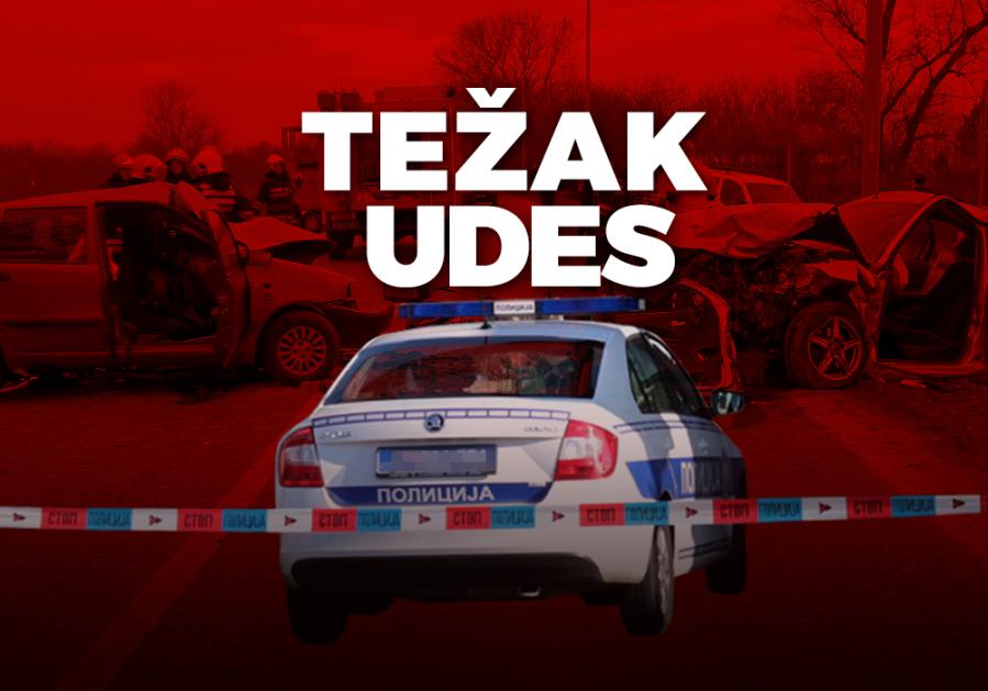 TEŠKA SAOBRAĆAJKA U UMČARIMA: Vozač punta poginuo na licu mesta, u drugom autu bila porodica sa dvoje dece