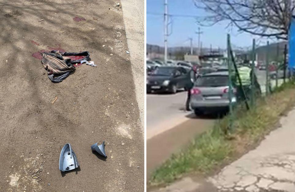 TEŠKA SAOBRAĆAJNA NESREĆA U NOVOM PAZARU – Vozač bježao od policije pa udario ženu (Video)