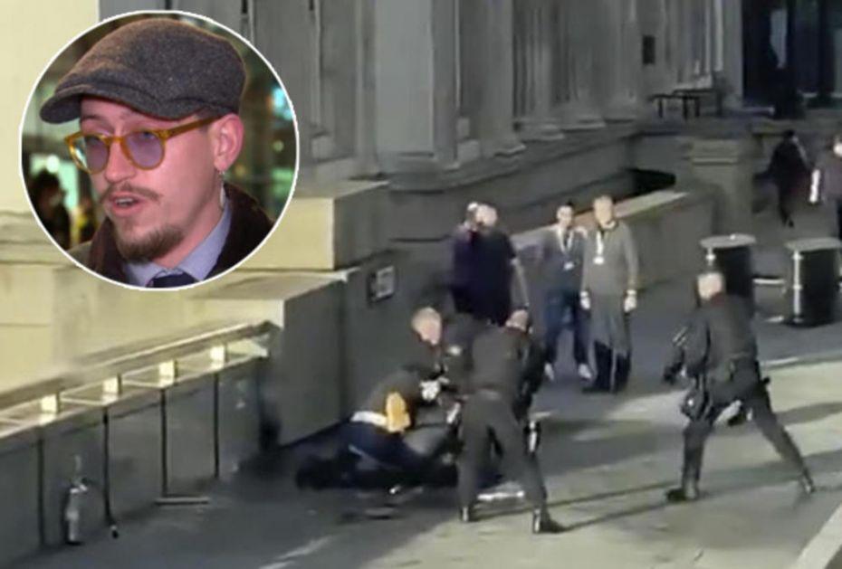 TOMAS JE HEROJ KOJI JE ZAUSTAVIO TERORISTU U LONDONU: Oteo mu je nož iz ruke, a onda je otišao u pab na pivo! (VIDEO)