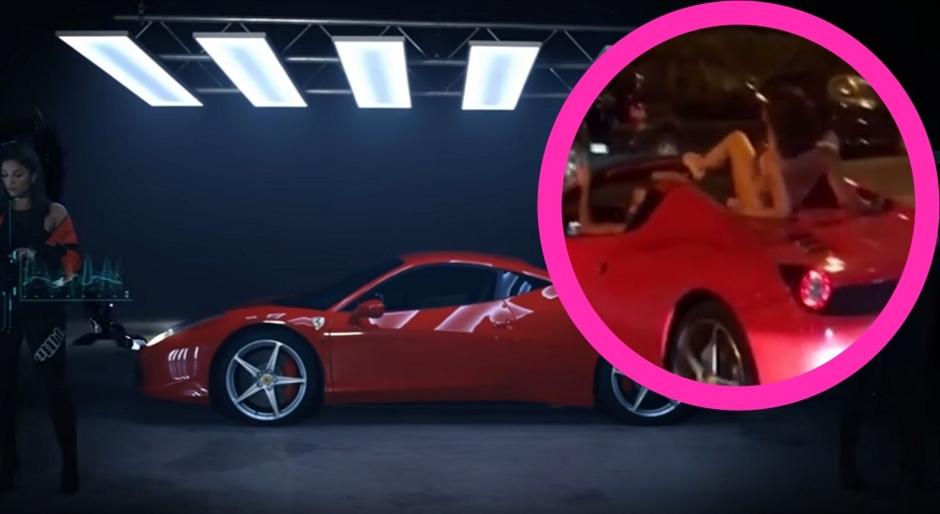 TRAŽI SE: Crveni ferari s golom ženskom na krovu!