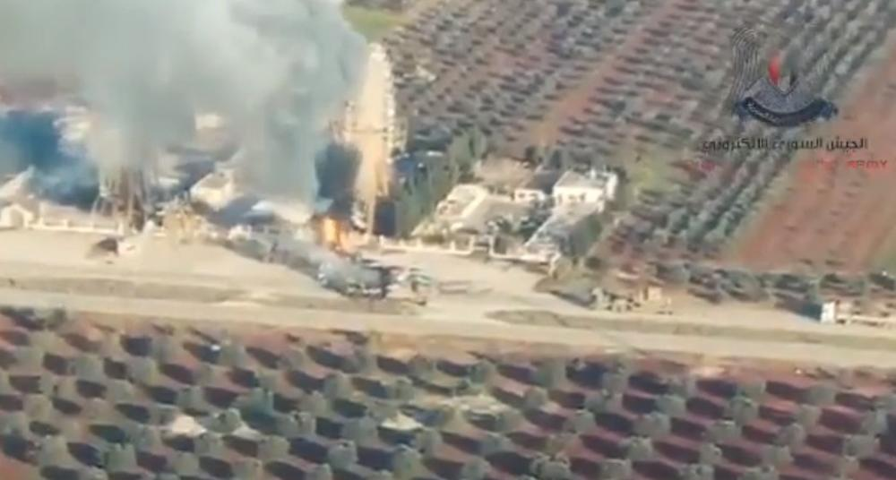 TURSKI TENKOVI NISU IMALI ŠANSE PROTIV RUSKIH AVIONA: Konvoj vozila masakriran na tlu Sirije (VIDEO)