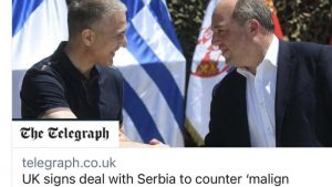 """Telegraf: Britanija pomaže Srbiji da se odupre """"malignom uticaju"""" Rusije"""