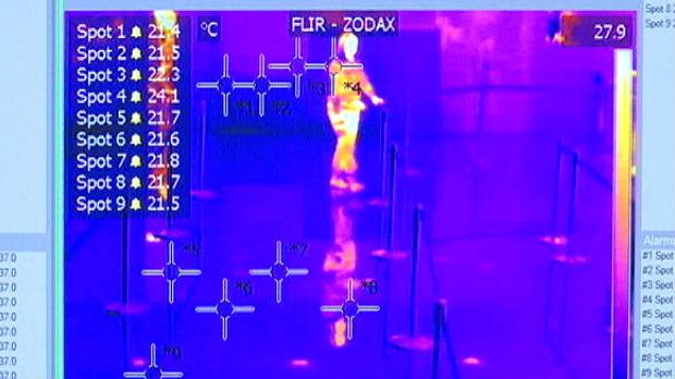 Termovizijske kamere na aerodromu, šta se dešava kada imate više od 38 stepeni