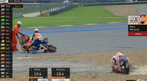 Težak pad Markesa obeležio prvi trening u Tajlandu