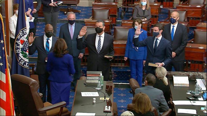 Tri nova člana položila zakletvu, demokrate imaju kontrolu nad Senatom