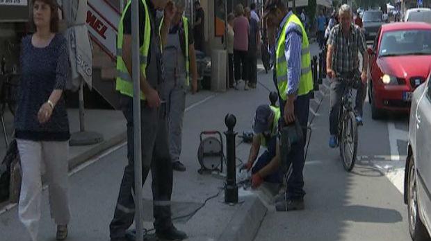 Trotoari u Novom Pazaru ponovo samo za pešake?