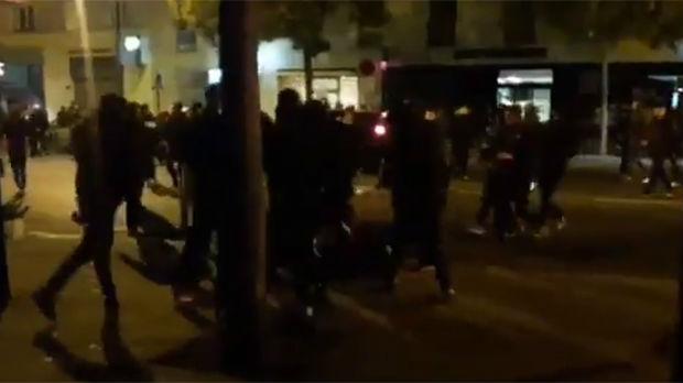 Tuča navijača Zvezde i PSŽ-a u Parizu
