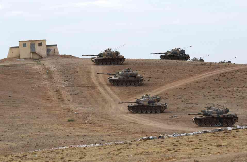 Turska uputila oklopnu tehniku na granicu sa Sirijom