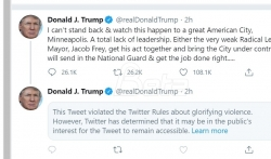 Tviter sakrio Trampov tvit o Mineapolisu jer je ocenio da glorifikuje nasilje