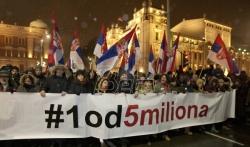 U Beogradu danas šesti protest protiv aktuelne vlasti