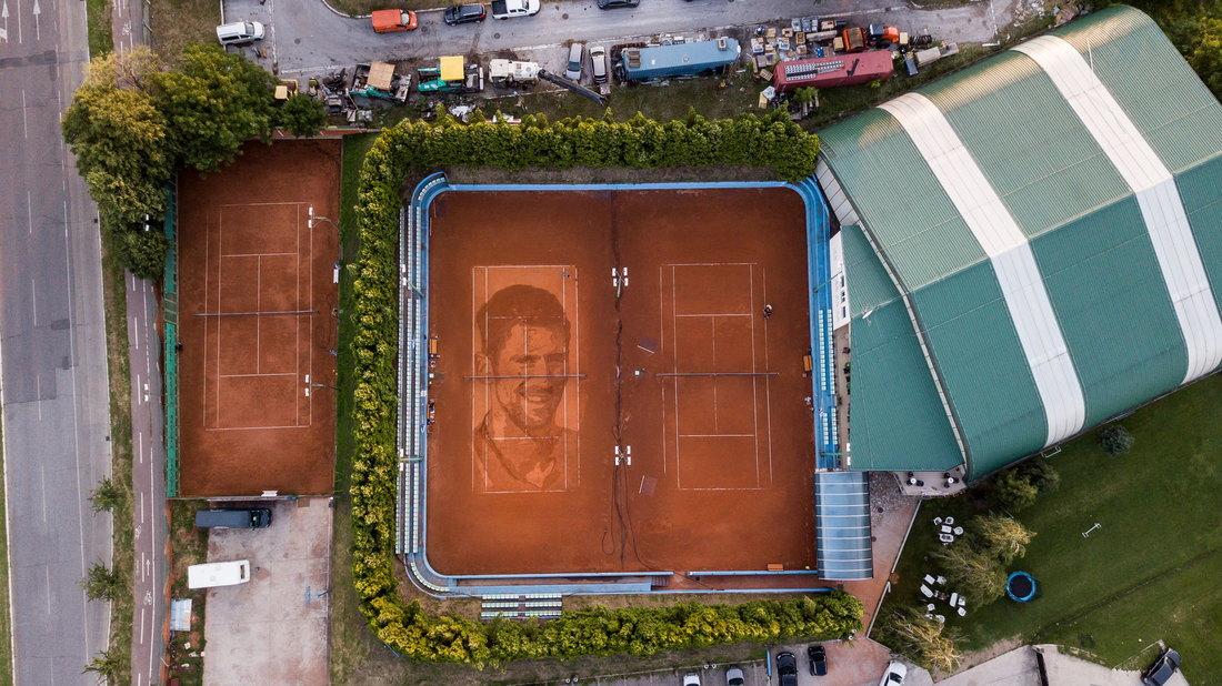 U Beogradu najveći portret Đokovića na svetu