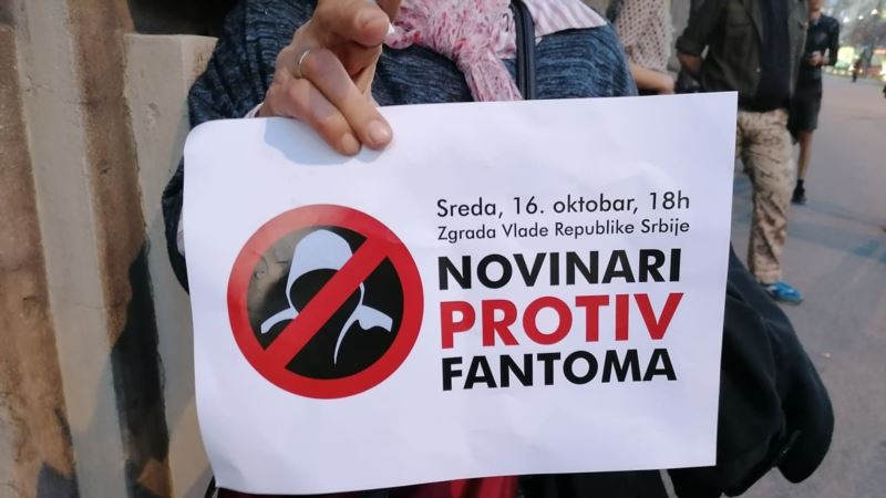 Protest zbog pretnji novinarima ispred Vlade Srbije