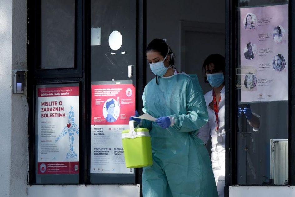 U CRNOJ GORI KORONOM ZARAŽENO UKUPNO 249 LJUDI: Hospitalizovano je 39, četvoro životno ugroženo