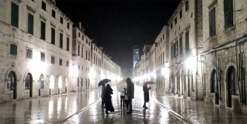 U Dubrovniku pao sneg, ima ga i na ostrvima