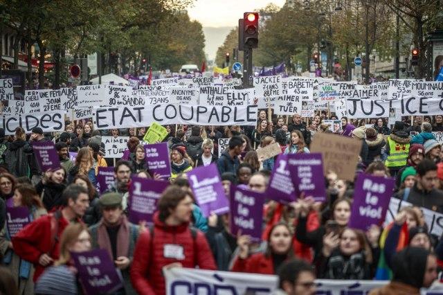 U Francuskoj protesti protiv nasilja nad ženama VIDEO