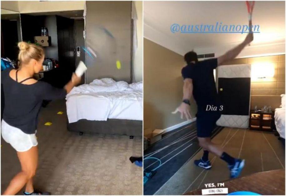U MELBURNU JE KAO U ZATVORU! Teniseri ne smeju da pomole nos izvan soba, udaraju lopticu o zid VIDEO