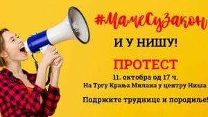 U Nišu danas drugi protest inicijative #MameSuZakon