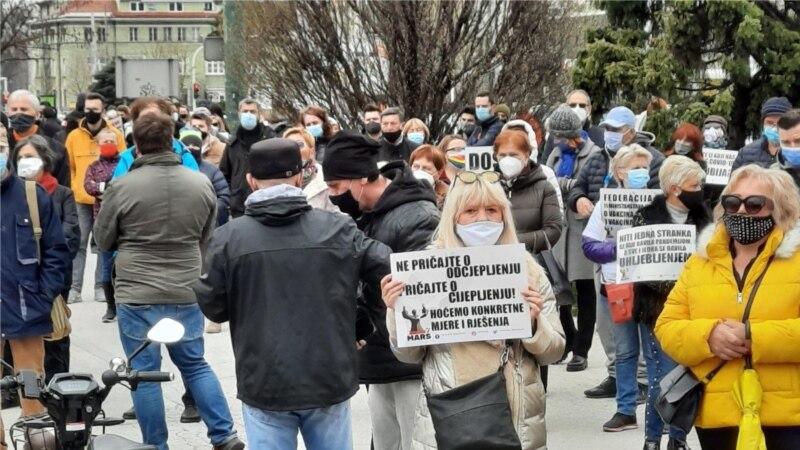 U Sarajevu održani protesti zbog nenabavke vakcina