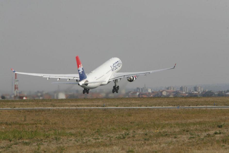U Srbiji 1,5 miliona avio putnika manje