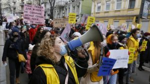 U Ukrajini skup žena protiv porodičnog nasilja