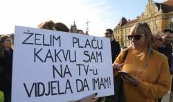 U Zagrebu protestovalo nekoliko hiljada prosvetara, štrajk u svim školama u zemlji