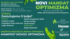 "U Zrenjaninu u subotu 26. septembra ""Novi mandat optimizma"" (VIDEO)"