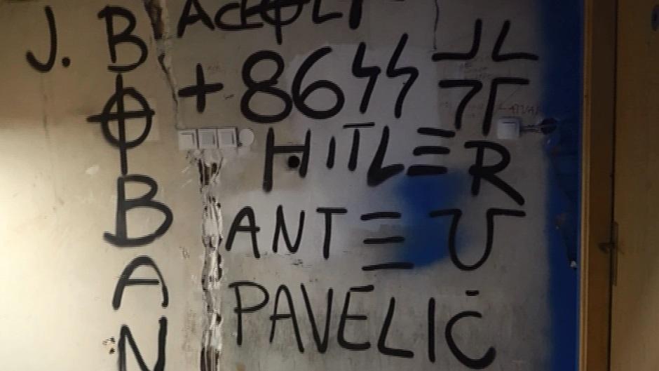U sedištu BBB - grafiti Paveliću i Hitleru! (VIDEO)