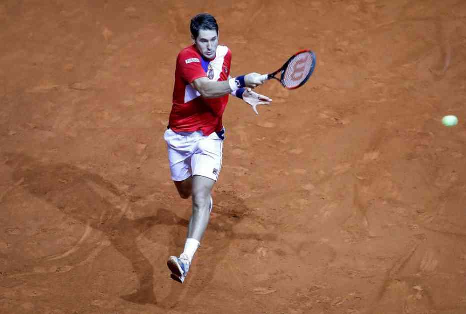 UBEDLJIV PORAZ SRBINA: Lajović osvojio samo tri gema protiv 62. tenisera sveta