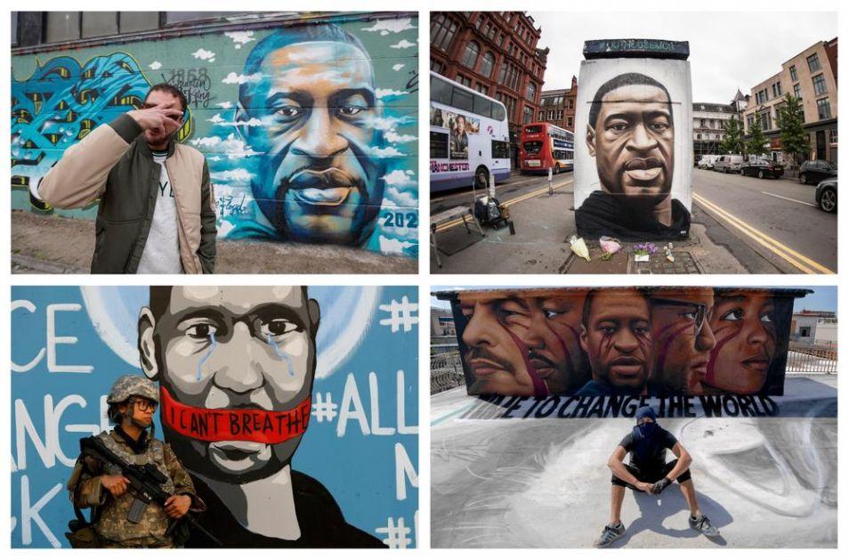 UBIJENI FLOJD OPOMINJE SA ZIDOVA ŠIROM SVETA: Strit art umetnici od Sirije do Kenije odaju poštu ubijenom Afroamerikancu
