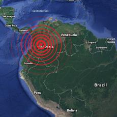 UDAR KRENUO SA DUBINE OD 30 KILOMETARA: Snažan zemljotres pogodio Kolumbiju, narod u panici!