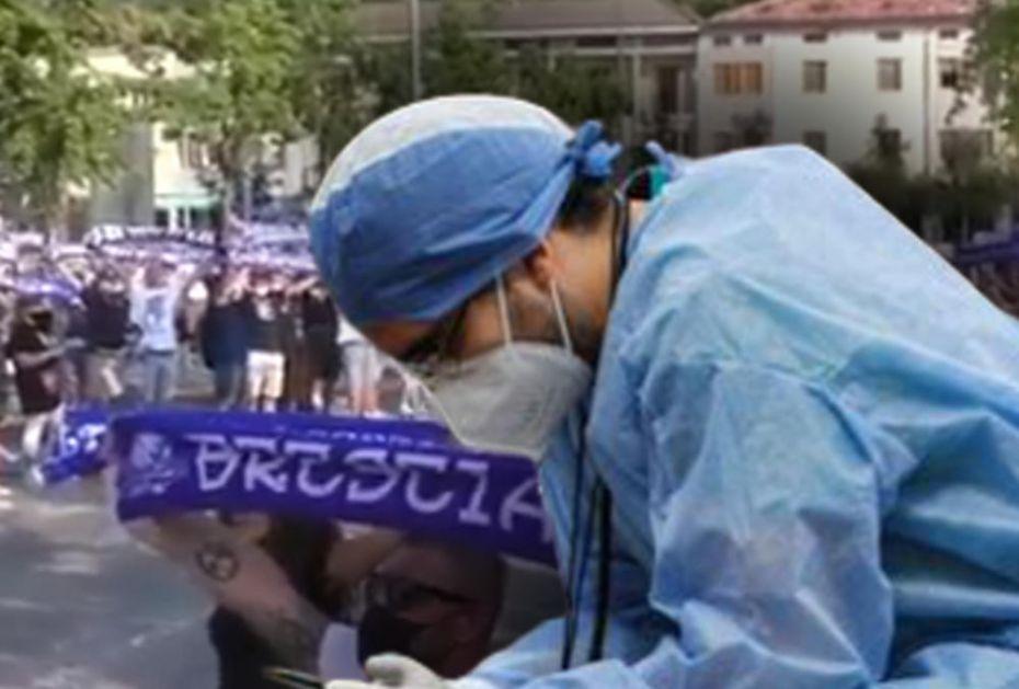 UF! KAKVA SCENA: Medicinski radnici jedva stoje na nogama, a onda su navijači Breše uradili nešto o čemu PRIČA PLANETA