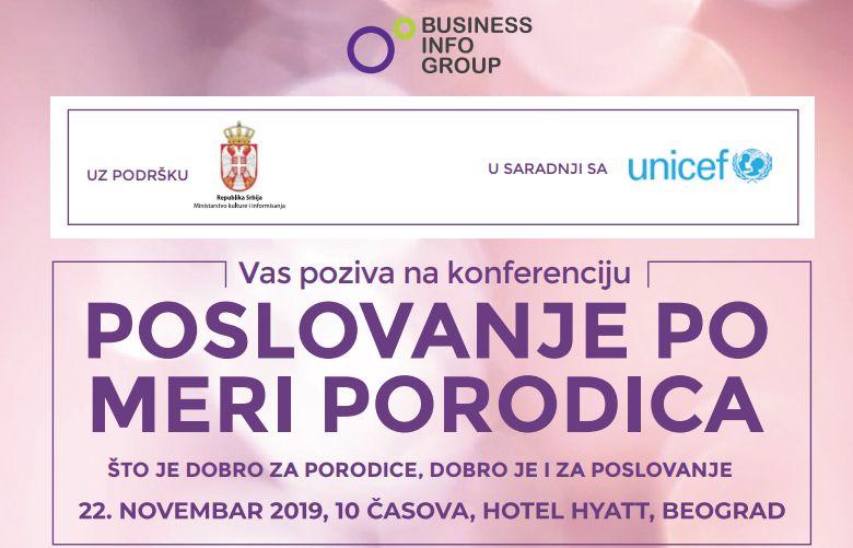 "UNICEF konferencija ""Poslovanje po meri porodica"" u Beogradu"