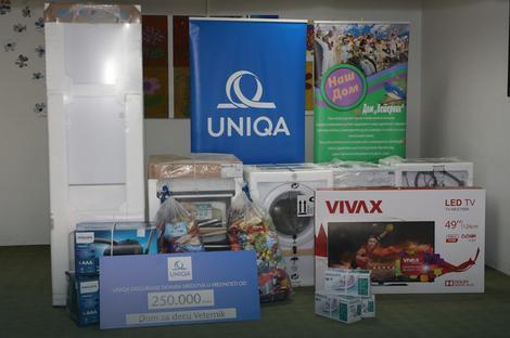 UNIQA donirala sredstva u iznosu od 1.500.000 dinara ustanovama širom Srbije